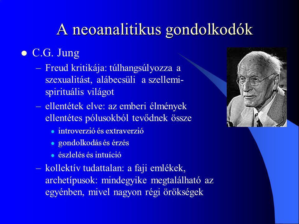 A neoanalitikus gondolkodók