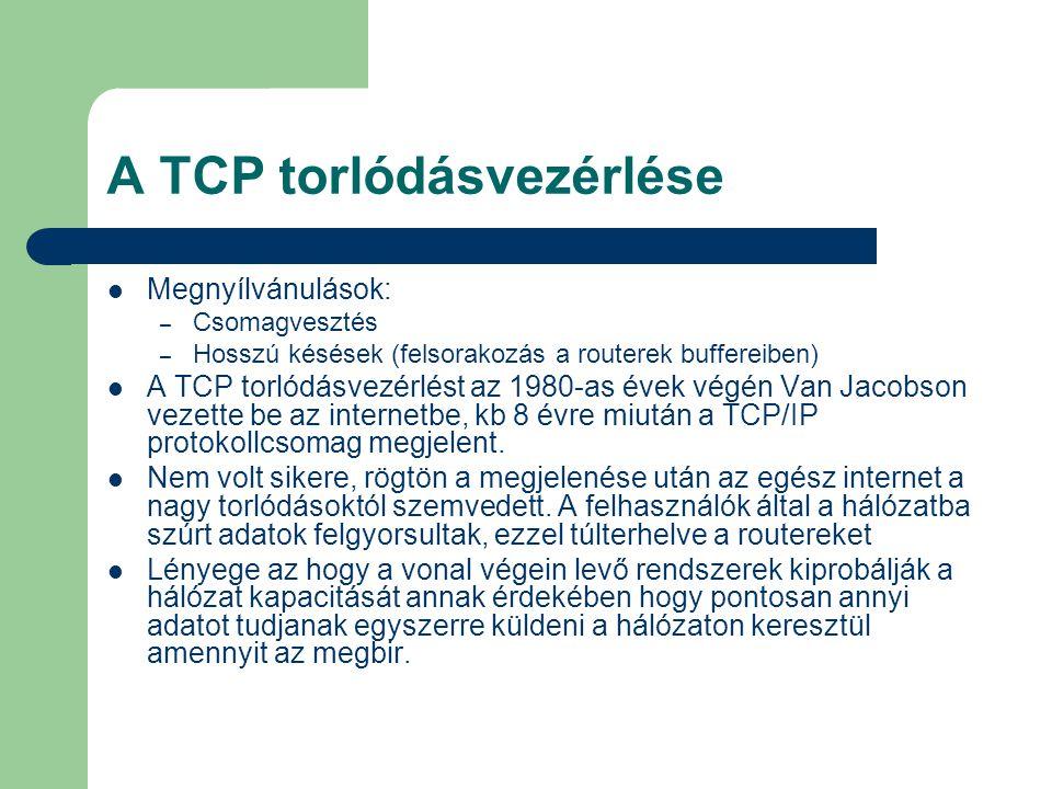 A TCP torlódásvezérlése