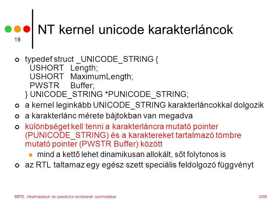NT kernel unicode karakterláncok