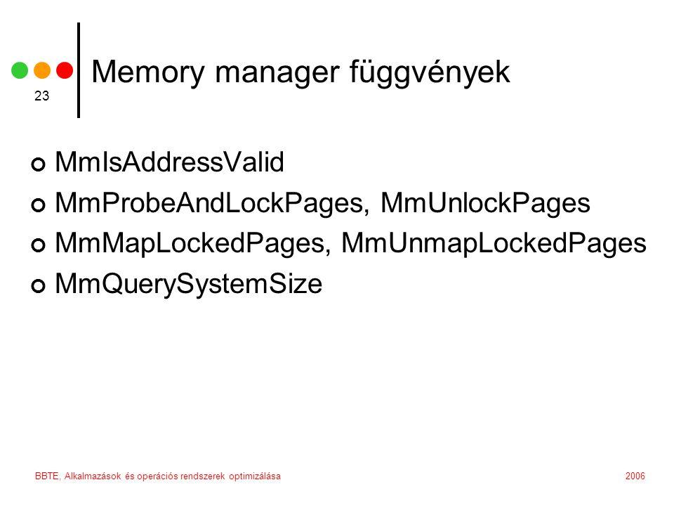 Memory manager függvények