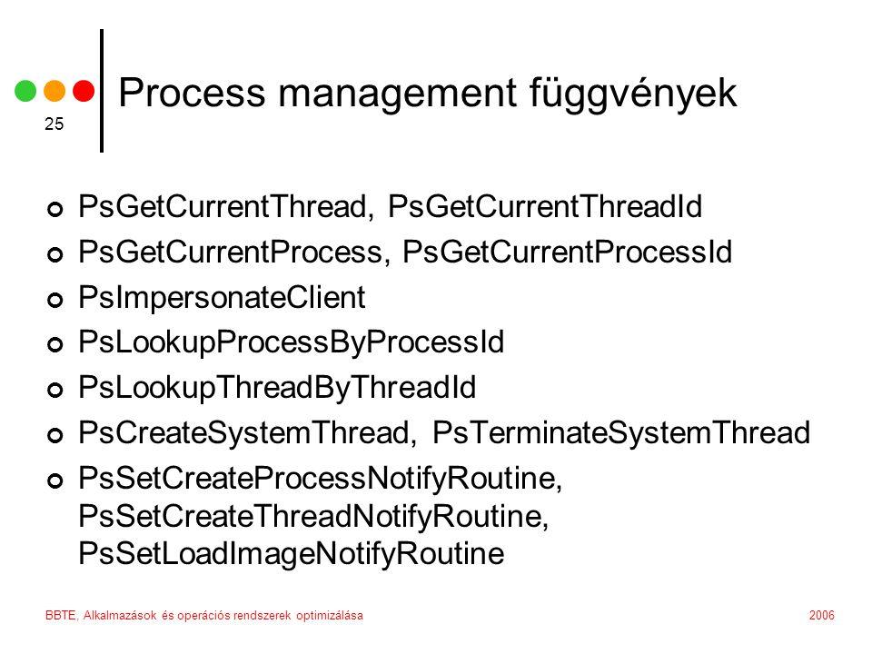 Process management függvények
