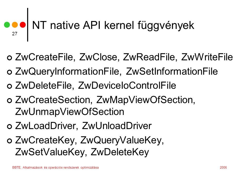 NT native API kernel függvények