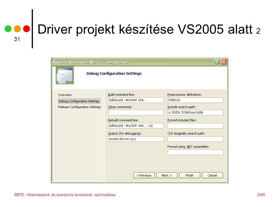 Driver projekt készítése VS2005 alatt 2