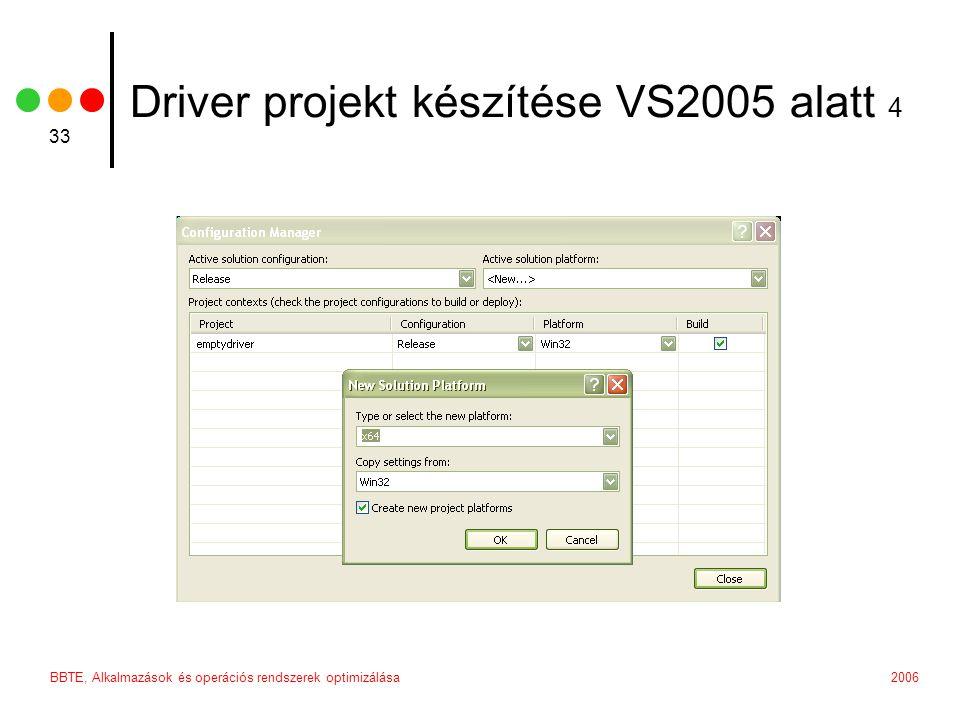Driver projekt készítése VS2005 alatt 4