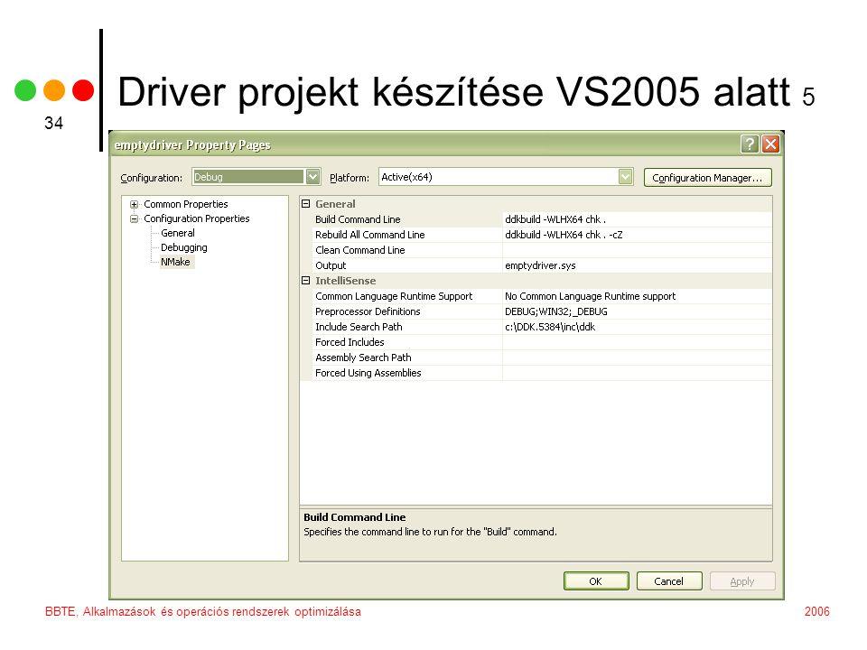 Driver projekt készítése VS2005 alatt 5