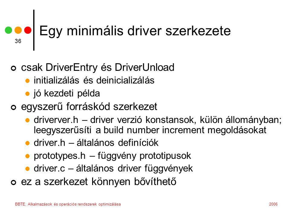 Egy minimális driver szerkezete