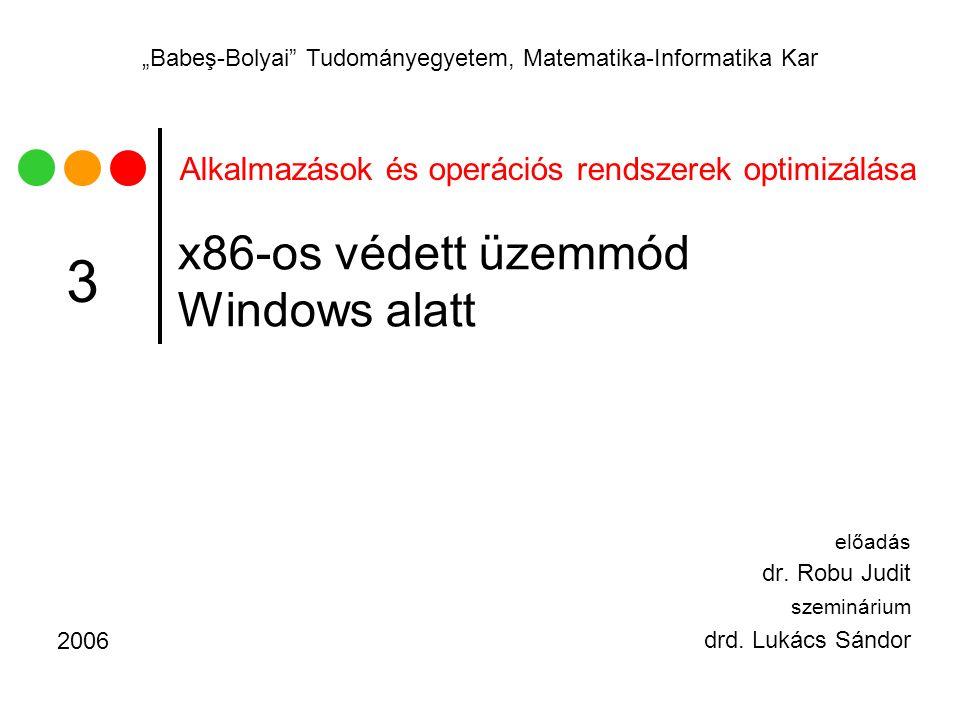 x86-os védett üzemmód Windows alatt