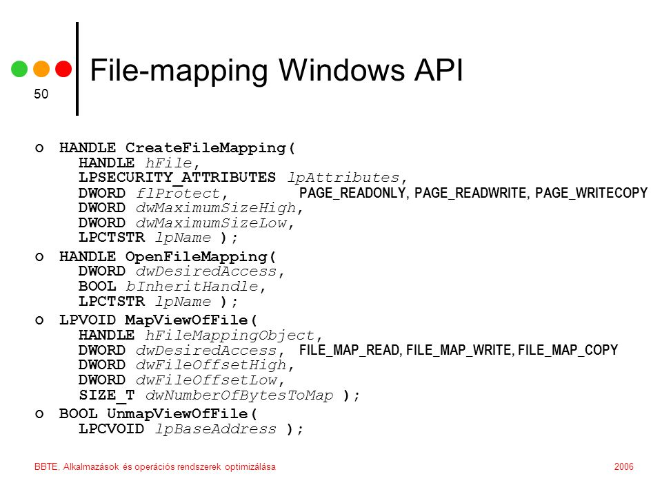 File-mapping Windows API