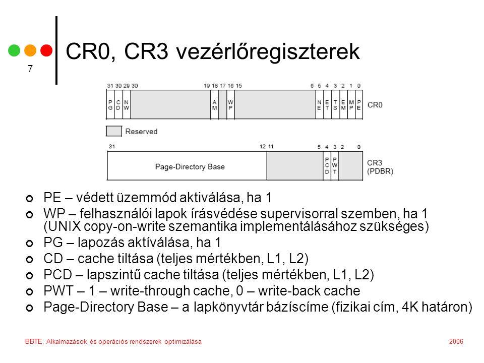CR0, CR3 vezérlőregiszterek