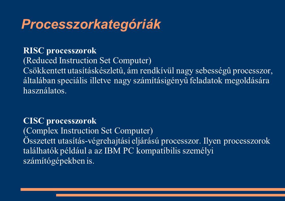 Processzorkategóriák