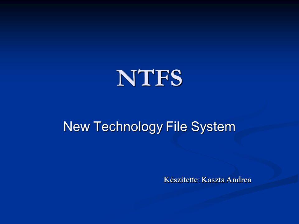 New Technology File System Készítette: Kaszta Andrea