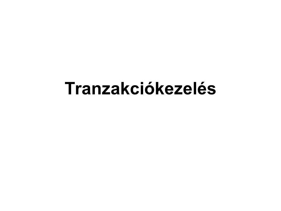 Tranzakciókezelés