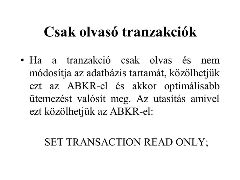 Csak olvasó tranzakciók