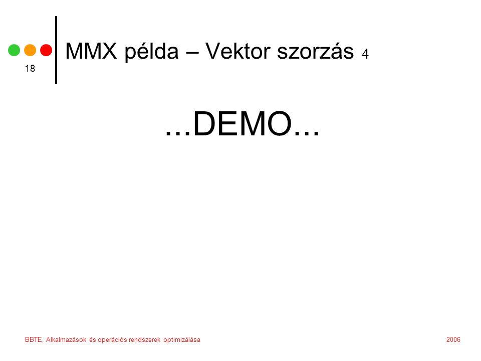 MMX példa – Vektor szorzás 4