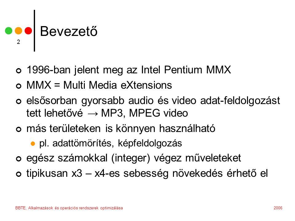 Bevezető 1996-ban jelent meg az Intel Pentium MMX