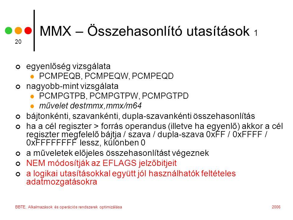 MMX – Összehasonlító utasítások 1