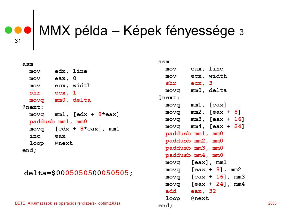 MMX példa – Képek fényessége 3
