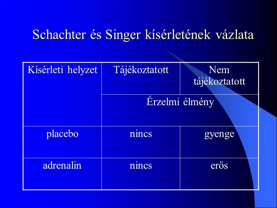 Schachter és Singer kísérletének vázlata