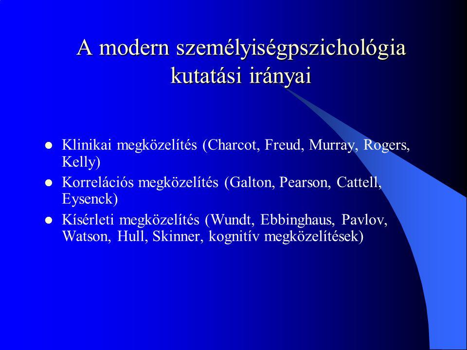 A modern személyiségpszichológia kutatási irányai
