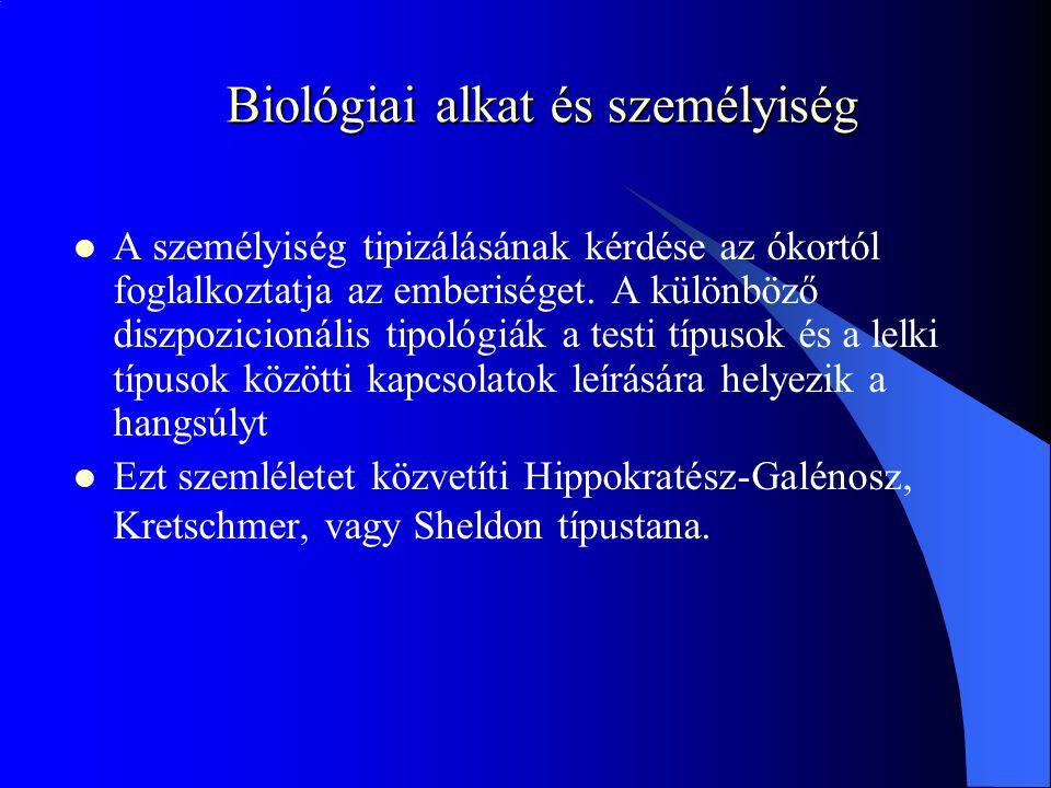 Biológiai alkat és személyiség