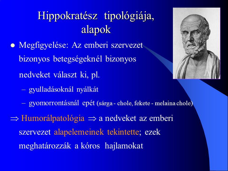 Hippokratész tipológiája, alapok