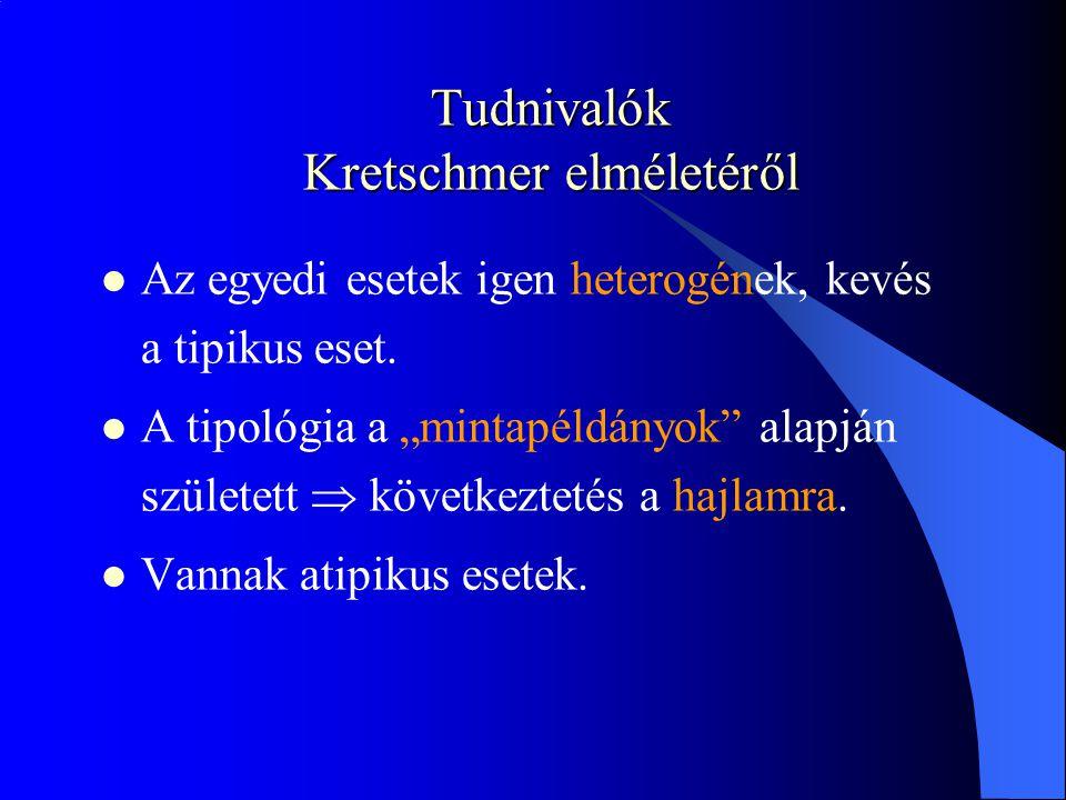 Tudnivalók Kretschmer elméletéről