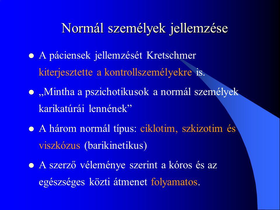 Normál személyek jellemzése