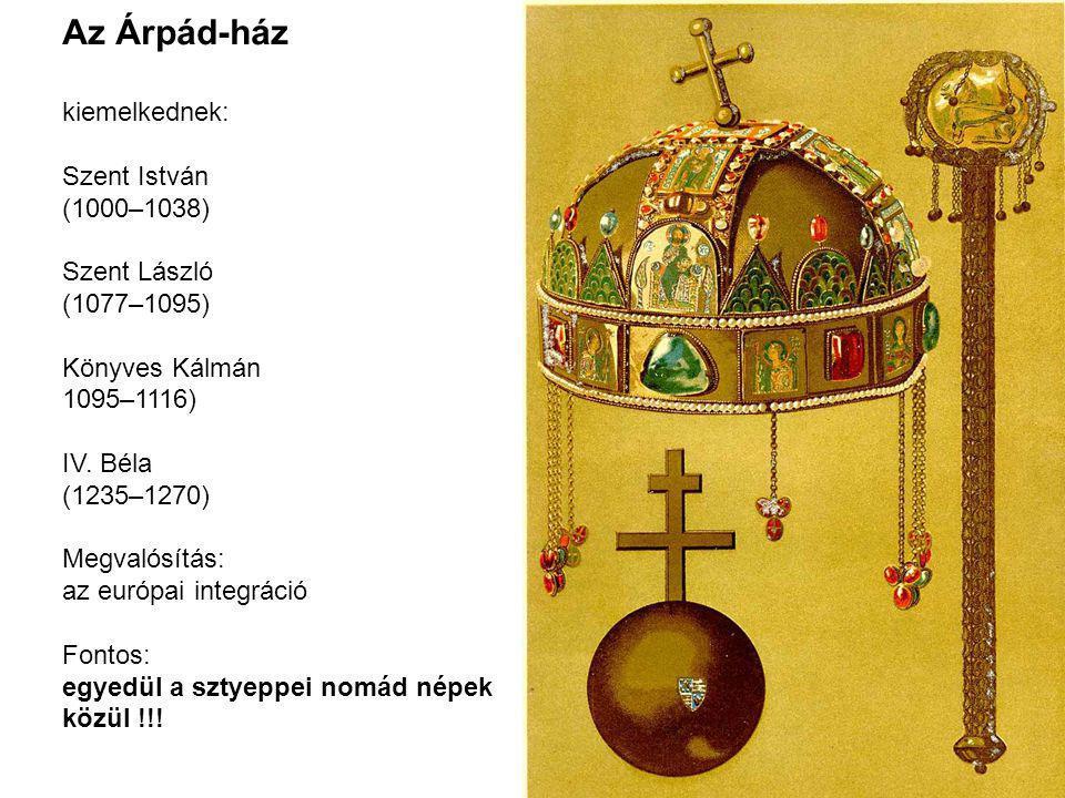 Az Árpád-ház kiemelkednek: Szent István (1000–1038) Szent László