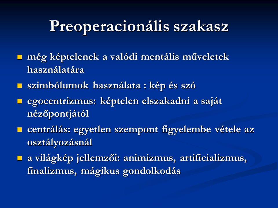 Preoperacionális szakasz
