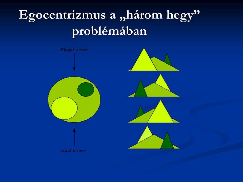 """Egocentrizmus a """"három hegy problémában"""