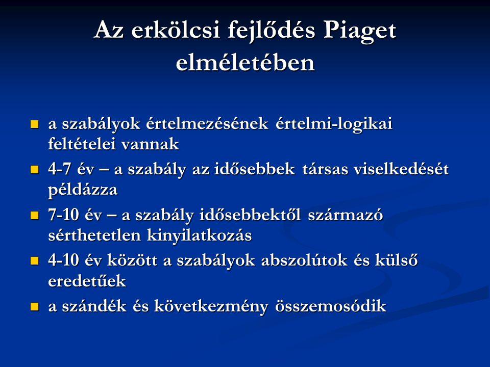 Az erkölcsi fejlődés Piaget elméletében