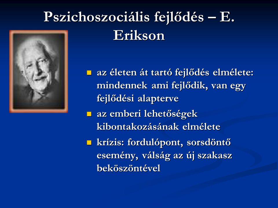 Pszichoszociális fejlődés – E. Erikson