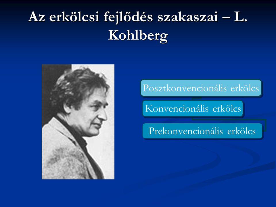 Az erkölcsi fejlődés szakaszai – L. Kohlberg