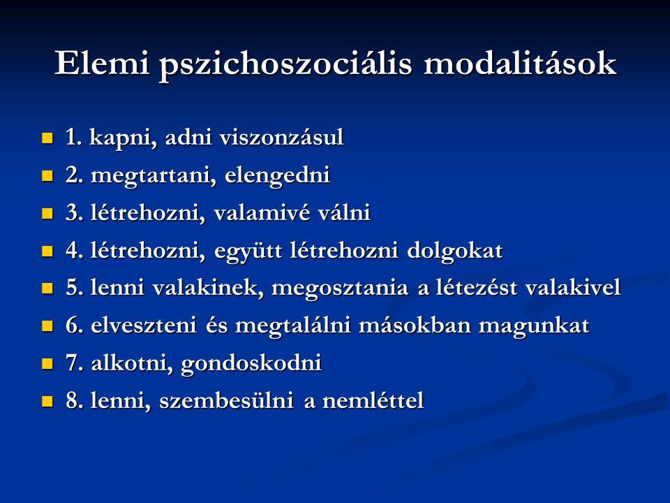 Elemi pszichoszociális modalitások