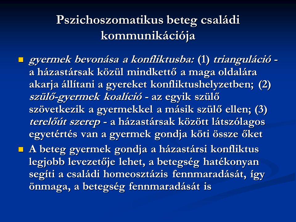 Pszichoszomatikus beteg családi kommunikációja
