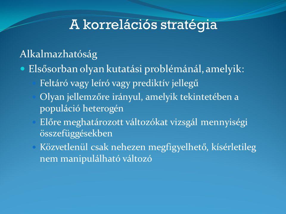 A korrelációs stratégia