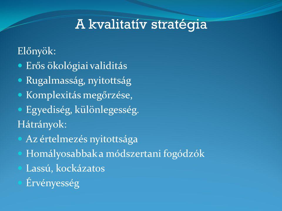 A kvalitatív stratégia
