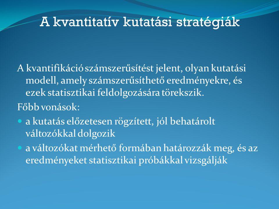 A kvantitatív kutatási stratégiák