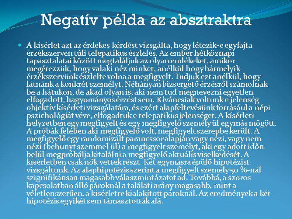 Negatív példa az absztraktra