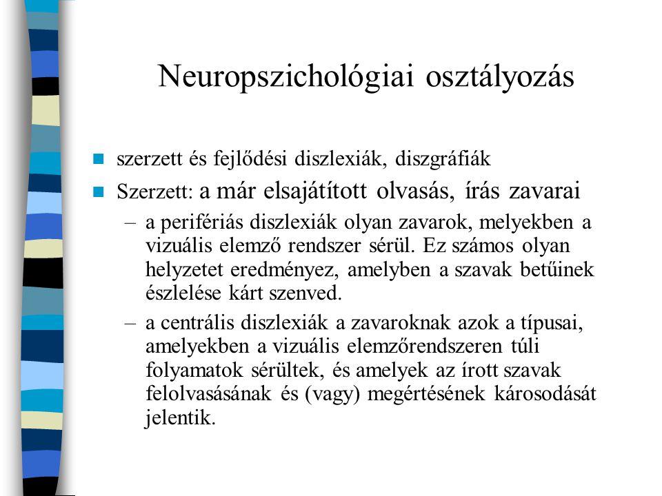Neuropszichológiai osztályozás
