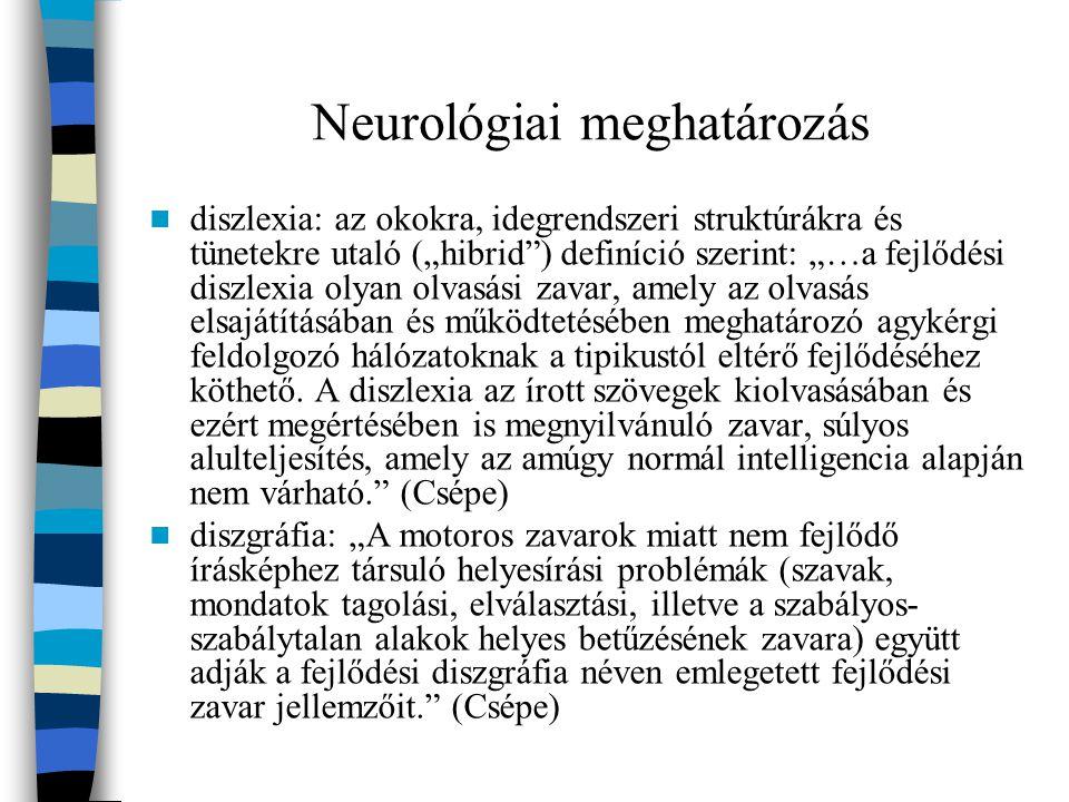 Neurológiai meghatározás