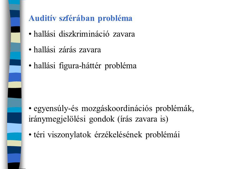 Auditív szférában probléma