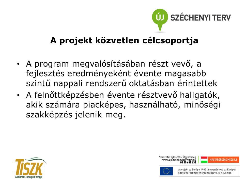 A projekt közvetlen célcsoportja