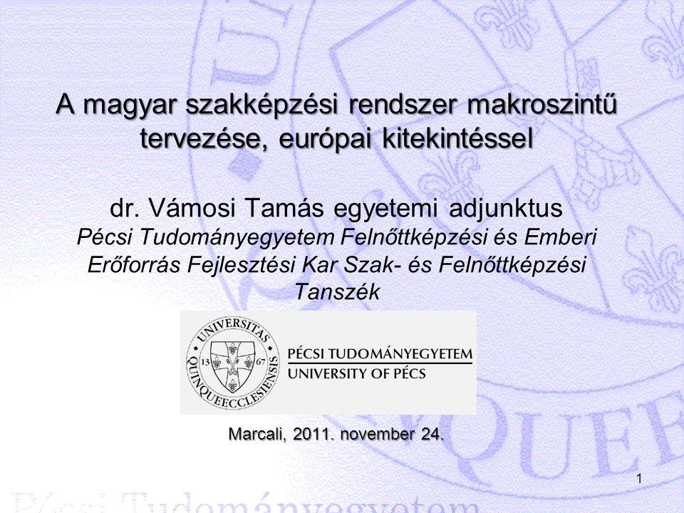 A magyar szakképzési rendszer makroszintű tervezése, európai kitekintéssel dr.