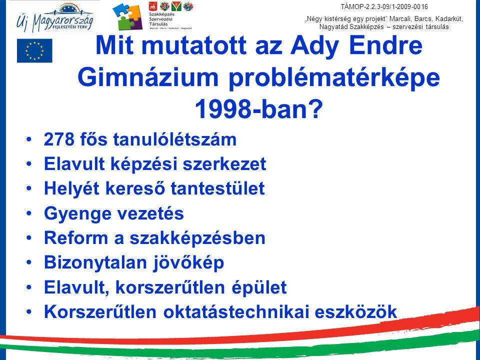 Mit mutatott az Ady Endre Gimnázium problématérképe 1998-ban