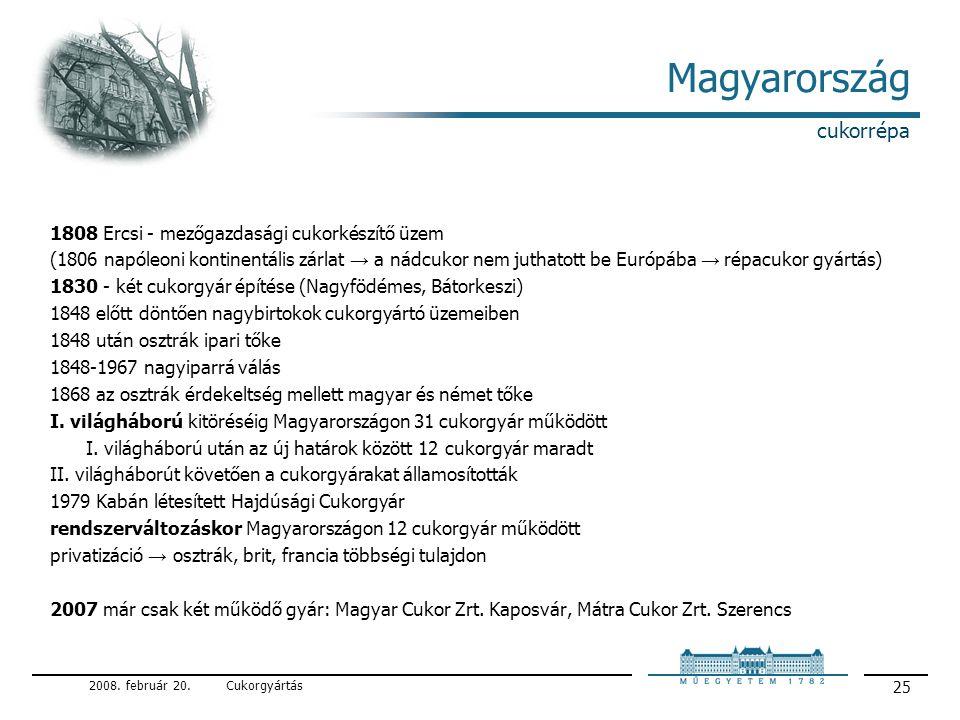 Magyarország cukorrépa 1808 Ercsi - mezőgazdasági cukorkészítő üzem