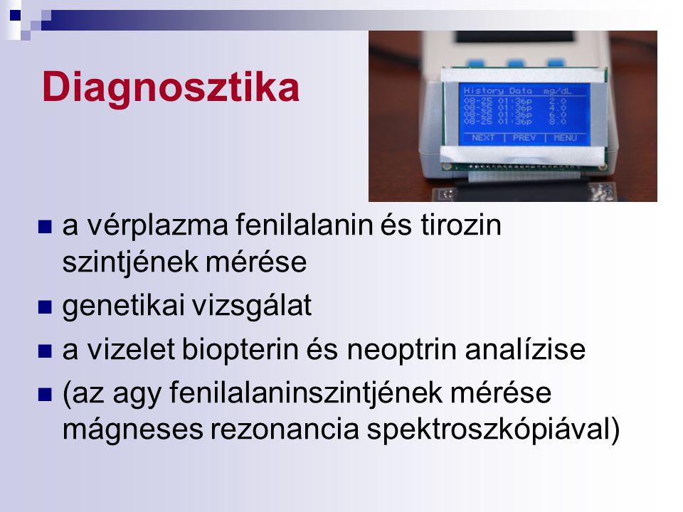 Diagnosztika a vérplazma fenilalanin és tirozin szintjének mérése