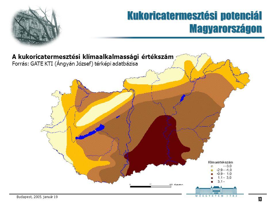 Kukoricatermesztési potenciál Magyarországon