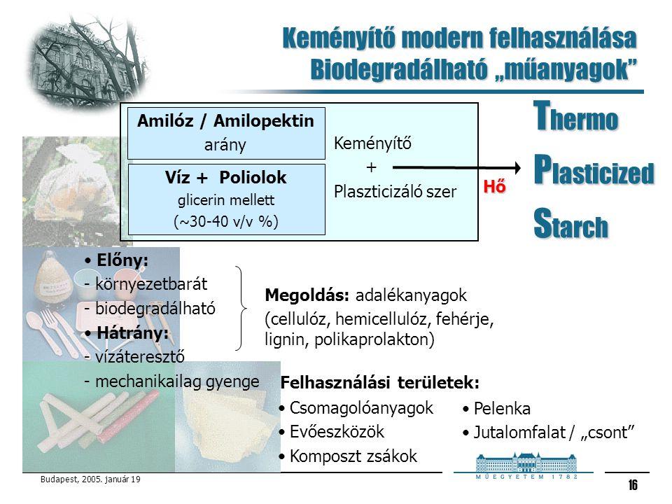 """Keményítő modern felhasználása Biodegradálható """"műanyagok"""