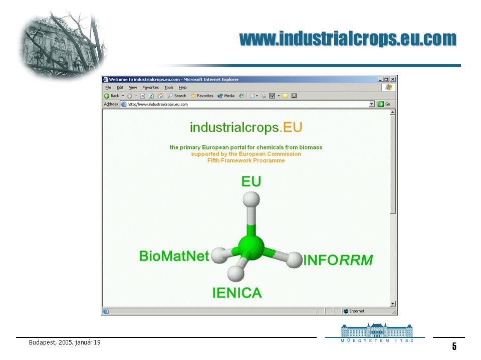 www.industrialcrops.eu.com Budapest, 2005. január 19